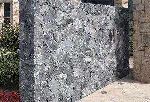 Prikaz zidne obloge z dekorativnim kamnom Rock-Face-Evenos-Black